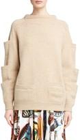 Christopher Kane Women's Sleeve Pocket Wool Sweater