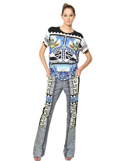 Mary Katrantzou Printed Modal Jersey T-Shirt