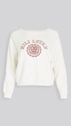 Nili Lotan Crest Crew Neck Sweatshirt