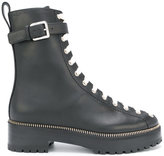 Sergio Rossi contrasting lace-up boots - women - Leather/rubber - 37