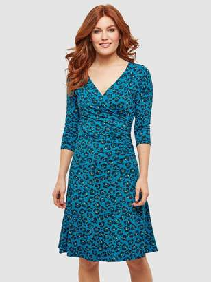 Joe Browns Moonlit Petal Wrap Dress - Print