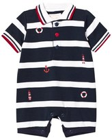 Emile et Rose Navy and White Stripe Nautical Romper
