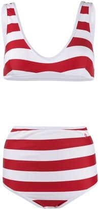 Perfect Moment High-Waisted Striped Bikini
