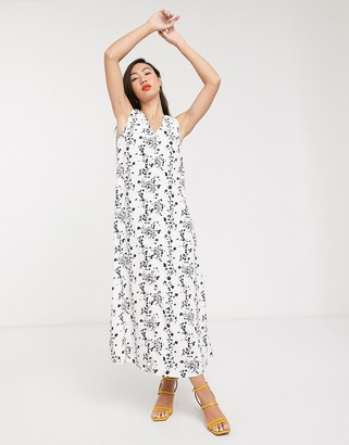 Glamorous sleeveless midi column dress in vintage floral