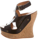 Chloé Leather Crossover Wedges