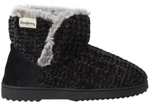 Dearfoams Womens Chenille Knit Boot Slippers