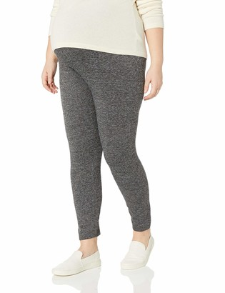 Motherhood Maternity Women's Maternity Plus Size Full Length Fleece Lined Seamless Leggings