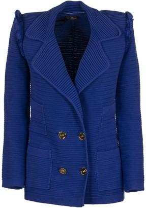 Elisabetta Franchi Celyn B. Cotton Blazer Jacket Cobalt
