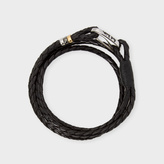 Paul Smith Men's Black Leather Wrap Bracelet