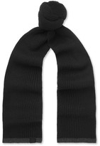 Rag & Bone Ace Ribbed Cashmere Scarf - Black