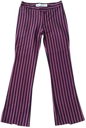 Emilio De La Morena Purple Silk Trousers for Women