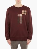 Cmmn Swdn Burgundy Cotton And Felt Patch Sweatshirt