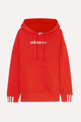 adidas Coeeze Oversized Embroidered Organic Cotton-blend Jersey Hoodie - UK6