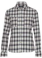 A.P.C. Checked Basketweave Cotton-Blend Bouclé Shirt