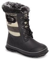 Bogs Girl's Arcata Stripe Waterproof Insulated Faux Fur Boot