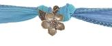 Catherine Michiels Cherry Blossom Bronze Charm & Silk Bracelet Wrap