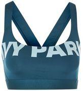 Ivy Park Logo v-back mesh bra