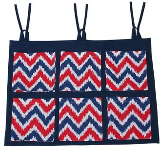 Bacati MixNMatch Navy/Red Zigzag, Wall/Crib Storage Organizer