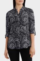 Rose Outline Basic 3/4 Sleeve Shirt