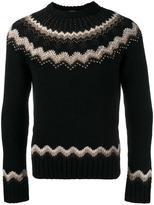 Valentino studded intarsia jumper