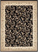 """Kenneth Mink Area Rug, Princeton Floral Black 7'10"""" x 10'2"""""""