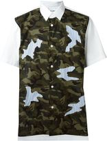 Comme des Garcons camouflage print shortsleeved shirt