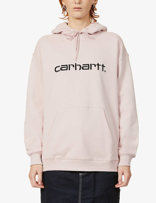 Carhartt Work In Progress Logo-embroidered stretch-cotton hoody