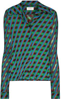 Wales Bonner Mambo geometric-print shirt