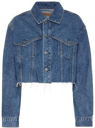 GRLFRND Faye cropped denim jacket
