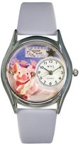 Whimsical Watches Women's S0520008 Swine Lake Light Blue Leather Watch