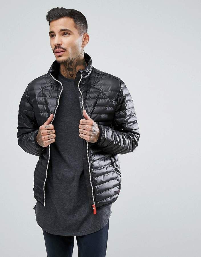 Hunter Padded Mid Layer Jacket in Black