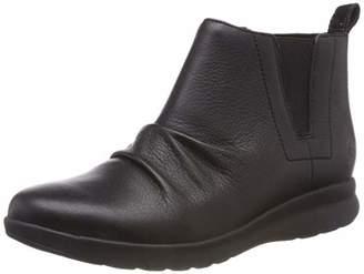 Clarks Women's Un Adorn Mid Slouch Boots, (Black Leather)