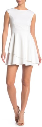 Love, Nickie Lew Keyhole Back Asymmetrical Hem Mini Dress