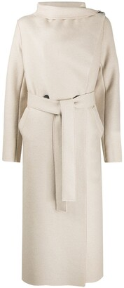 Harris Wharf London Belted Long-Line Coat