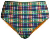 Ganni High-Waist Checker Bikini Bottom
