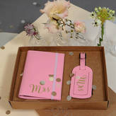 Undercover Mr And Mrs Wedding Passport Holder With Luggage Tag