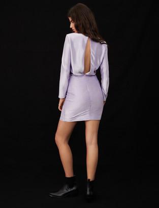 Maje Low-back stretch lame dress