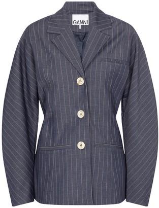 Ganni Pinstriped blazer