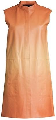 Lafayette 148 New York Malva Ombre Leather Vest