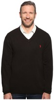 U.S. Polo Assn. Big & Tall Long Sleeve V-Neck Soft Acrylic