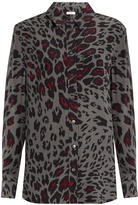 Equipment Signature cheetah-print silk shirt
