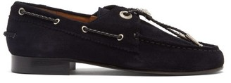 Toga Bolo-tie Suede Loafers - Womens - Navy