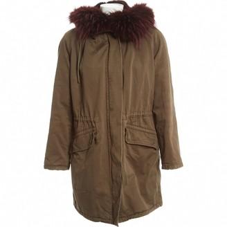 Yves Salomon Khaki Fur Coats