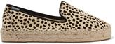 Soludos Leopard-print calf hair espadrilles