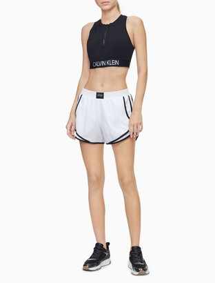 Calvin Klein Performance Logo Patch Piped Mesh Shorts