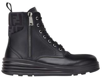 Fendi Black leather biker boots