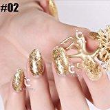 Luxuious Golden Series Nail Art Glitter Dust UV LED Nail Gel Polish Soak Off UV LED Varnish Manicure (02)