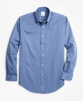 Brooks Brothers Milano Fit Garment-Dyed Twill Sport Shirt