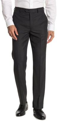 """Moss Bros Charcoal Solid Regular Fit Suit Separates Pants - 30-34"""" Inseam"""