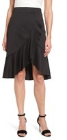 Halogen Women's Neoprene Ruffle Skirt